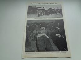 """Origineel Knipsel ( 1991 ) Uit Tijdschrift """" Ons Volk """"  1929  :   Ramp Spoorweg  Spoorwegongeluk  Moerbeke - Viane - Alte Papiere"""