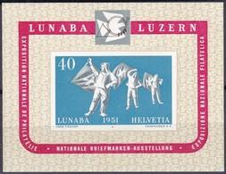 Schweiz, 1951, 560 Block 14, LUNABA, Luzern.   MH * - Blocks & Sheetlets & Panes