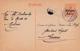 Carte Oc 3 Mechelen à Anvers Cachet Censure Militaire - Weltkrieg 1914-18