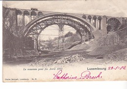 Cpa  Luxembourg Nouveau Pont 1902 - Cartes Postales