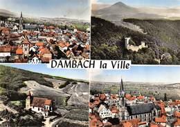CPSM 67 DAMBACH LA VILLE MULTI VUES EN AVION AU DESSUS DE ..    Grand Format 15 X 10,5 Cm - Dambach-la-ville