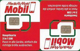 Austria - Mediamarkt - Hauptkarte 3 In 1 Sim Mobil, GSM SIM6 Mini-Micro-Nano, Mint - Autriche