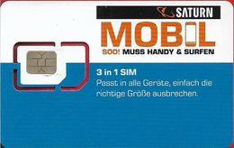 Austria - Saturn Mobil - Blue White, GSM SIM6 Mini-Micro-Nano, Mint - Autriche