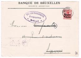 OC 3 Op Brief  Brussel  1915 Militarische Uberwachungsstelle  Freigegeben - Weltkrieg 1914-18