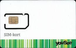 Denmark - YouSee - SIM-Kort (White) GSM SIM6 Mini-Micro-Nano, Mint - Danemark