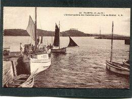 CPA - PAIMPOL - L'Embarcadère Des Vedettes Pour L'Ile De Bréhat, Animé - Bateaux - Paimpol