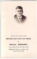 10 Avis De Décès De Mr Denizet Michel Né à Ville Sur Terre - Décédé Le 8 Mars 1966 - Décès