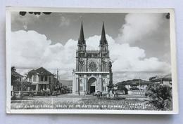 SANTOS - IGREJA DE STO ANTONIO DO EMBARE  - FOTO POSTAL COLOMBO- NV FP - Brasile