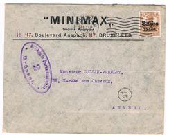 OC 15 Op Brief  Brussel 2  Militarische Uberwachungsstelle  Minimax - Weltkrieg 1914-18