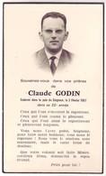 10 Avis De Décès De Mr Godin Claude ( Aube) - Décédé Le 2 Février 1967 - Décès