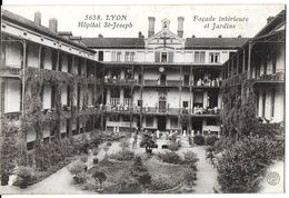 LYON 69007 RHÔNE  5638 HÔPITAL ST-JOSEPH FAÇADE INTÉRIEURE ET JARDIN - Lyon 7