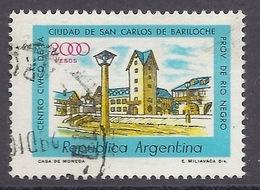 Argentina - 1980 San Carlos De Bariloche Ciudad, Rio Negro, View Of The City Center, Used - Argentina
