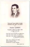 10 Avis De Décès De Mr Linet Jules ( Aube) - Décédé Le 8 Mars 1968 - Décès