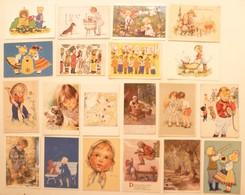 Lot De 27 Cartes Postales Illustrateurs Portraits ENFANTS Children - Portretten