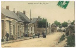 Ercheu - Rue De La Poste - Animée - Couleur - Chiens - Vélo - Bourgeois - Circulé - Other Municipalities