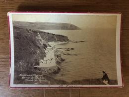 St Brieuc - Photo CDV Albumine Circa 1890/1900 - Anse Aux Moines , Pointe De Chatern , Pointe Du Roselier - Animation - Saint-Brieuc