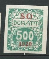Silesie Orientale   Taxe    Yvert N° 10 *    Aab 27522 - Silesia (Lower And Upper)