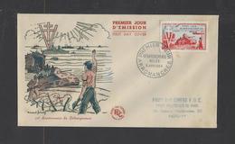 FRANCE.  YT  FDC  N° 983  Oblitération 1er Jour  5-6-54 - 1950-1959