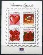 Simbabwe Zimbabwe Mi# Block 24 Postfrisch/MNH - Love Stamps - Zimbabwe (1980-...)