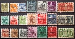 """Schweiz Suisse 1944: Dienst IV """"COURRIER DU BUREAU INTERNATIONAL DU TRAVAIL"""" BIT Zu 63-83 Mi 62-82 * MLH (Zu CHF 47.50) - Oficial"""