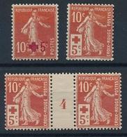 DK-159: FRANCE: Lot  Avec N°146*-147*-147* Mill 4 - France