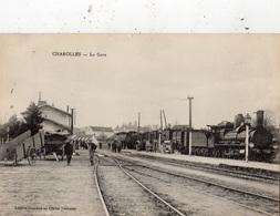 CHAROLLES LA GARE DEPART DU TRAIN - Charolles