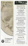 Marque-page : Léonard De Vinci, Dessins Et Manuscrits. Le Louvre. L'audioguide, Le Complément De Visite Indispensable - Bookmarks
