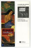 Marque-page : Illustration Gauguin Pour Le Musée Des Couleurs / Le Musée Des Animaux, Par Caroline Desnoëttes - Bookmarks