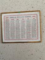 CALENDRIER 1899  Oberthur  DIM : 13 Cm / 10 Cm - Petit Format : ...-1900