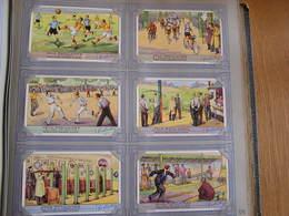 LIEBIG Jeux Populaires Jeu Tir à La Perche Arbalète Paume Quilles Série De 6 Chromos Trading Cards Chromo - Liebig