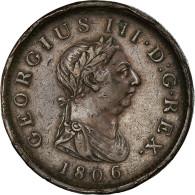 Monnaie, Grande-Bretagne, George III, Penny, 1806, Soho, TTB, Cuivre, KM:663 - 1662-1816 : Anciennes Frappes Fin XVII° - Début XIX° S.