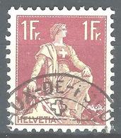 NN-/-467-   N° 126a, Papier Grillé,  Obl.,  Cote 4.00 € . Je Liquide - Switzerland