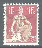 NN-/-486-   N° 126a, Papier Grillé,  Obl.,  Cote 4.00 € . Je Liquide - Switzerland
