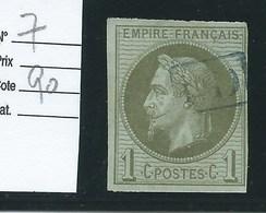 FRANCE - COLONIES GENERALES : N°7 Oblitéré. Cote 90€. - Napoléon III