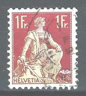 NN-/-658-   N° 126a, Papier Grillé,  Obl.,  Cote 4.00 € . Je Liquide - Switzerland
