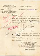 09 1942 Beaux Arts Obtention De Bons Matiere  Pour Travaux - Oorlog 1939-45