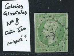 FRANCE - COLONIES GENERALES : N°8 Oblitéré. Cote 500€. - Napoléon III