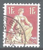 NN-/-793-   N° 126a, Papier Grillé,  Obl.,  Cote 4.00 € . Je Liquide - Switzerland