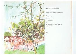 Pochette De 8 Illustrations De PASQUIER Pour Les Ouvrages RABOLIOT & IMAGES POUR UN JARDIN SANS MUR De Maurice Genevoix - Estampas & Grabados