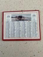 CALENDRIER 1936   DIM : 13 Cm / 10 Cm - Petit Format : 1921-40