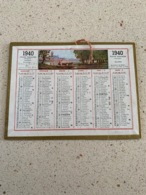 CALENDRIER 1940   DIM : 14 Cm / 11 Cm Imp OLLER - Calendriers