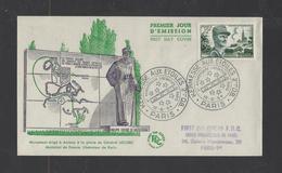 FRANCE.  YT  FDC  N° 984  Oblitération 1er Jour  12-6-54 - 1950-1959