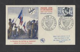 FRANCE.  YT  FDC  N° 982  Oblitération 1er Jour  5-6-54 - 1950-1959