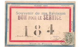 Militaires - Guerre 14/18 - Patriotique -  Affiches - Revision - Bon Pour Le Service - Vive La France   - CPA° - Militaria