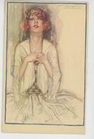 Illustrateur MAUZAN - Jolie Carte Fantaisie Portrait De Femme - Mauzan, L.A.