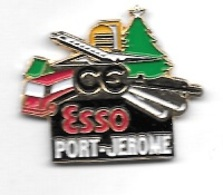 Pin's  Ville, Marque  Carburant  ESSO  Rafinage, C.E  ESSO  PORT - JEROME  à  76330 Port-Jérôme-sur-Seine - Carburants
