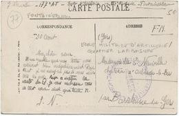 Cachet Militaire : 77 FONTAINEBLEAU - Marcophilie (Lettres)