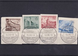 Deutsches Reich, Nr. 739/42 Auf Briefstücke  (T 15701) - Usados