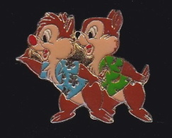 63868- Pin's-Tic Et Tac, En Anglais Chip And Dale.signé DISNEY ARTHUS BERTRAND. - Disney