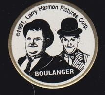 63869- Pin's-Laurel Et Hardy .Larry Harmon Picture Corp.Boulanger. - Cinéma